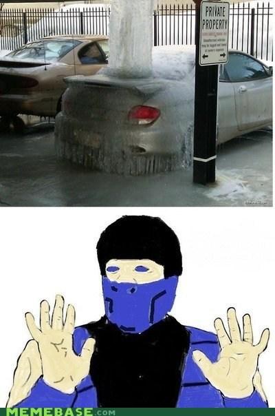 Badass car frost subzero