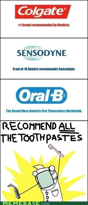all the things,dentist,money,toothpaste
