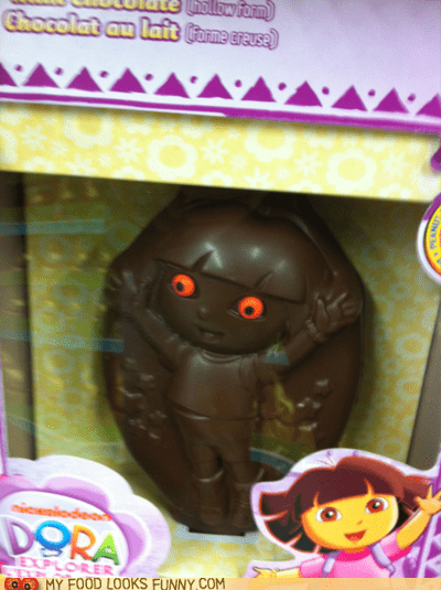 chocolate dora the explorer eyes freaky obey - 5879694592