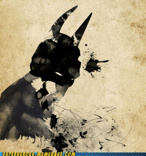 Awesome Art,batman,creepy,ink