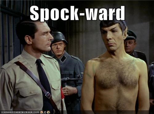 Awkward,Leonard Nimoy,nazis,shirtless,Spock