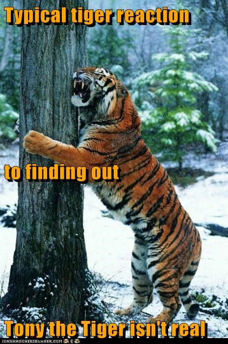 clawing depressed Sad tiger tony the tiger tree upset