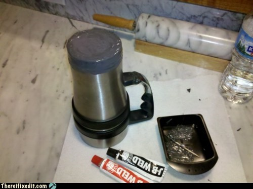 super glue thermos coffee cup mug