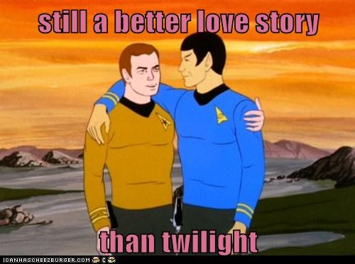 Captain Kirk,Leonard Nimoy,Shatnerday,Spock,Star Trek,still a better love story,William Shatner
