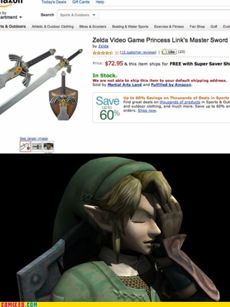 amazon,facepalm,for sale,link,video games,zelda