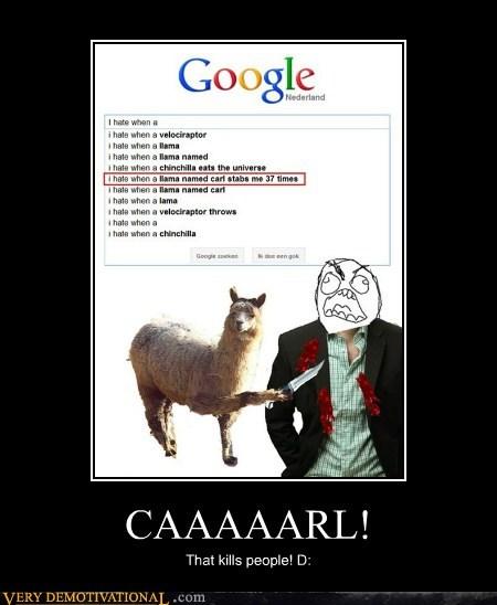 carl,hilarious,llama,stabs,wtf