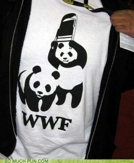 abbreviation classic Hall of Fame panda panda bear panda bears shirt wrestling wwf - 5882165504