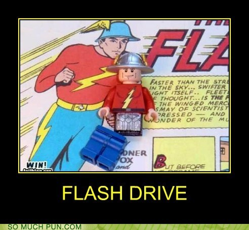 double meaning,drive,flash,flash drive,Hall of Fame,literalism,the flash
