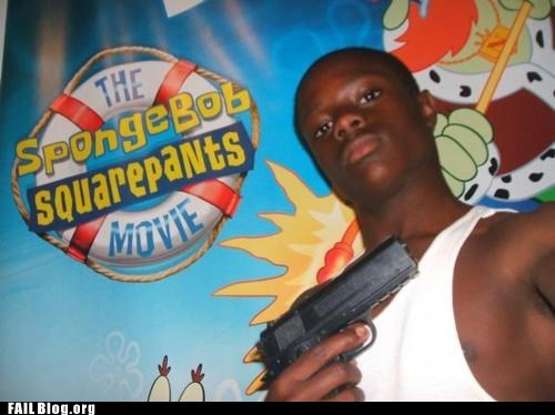 background,gangster,guns,Hall of Fame,SpongeBob SquarePants