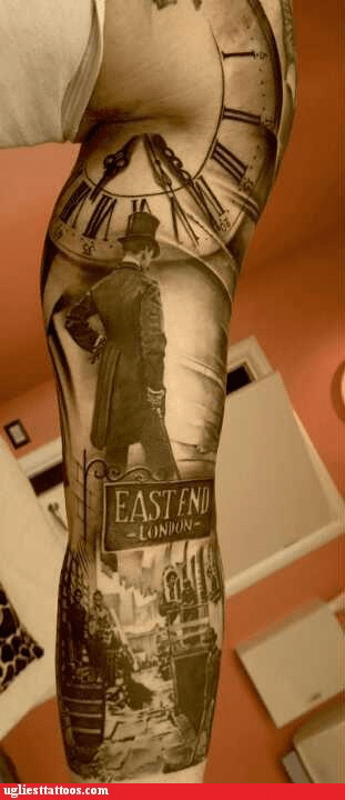 clock tower,east end london,Hall of Fame,London,sleeve,tattoo WIN