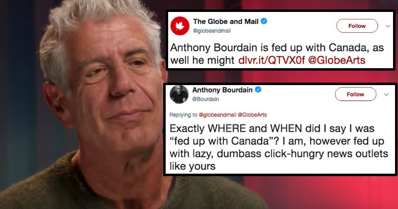 twitter Anthony Bourdain spicy roast social media insult funny - 5882885