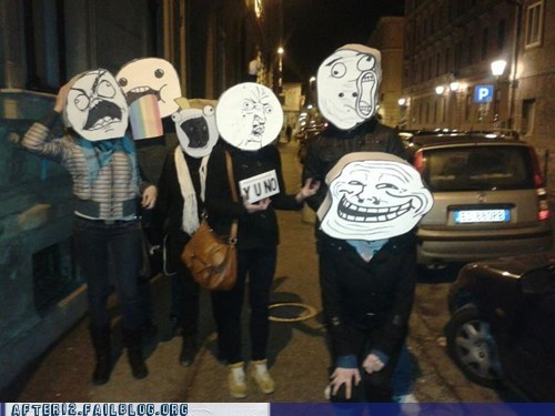 group,Party,Rage Comics,rage faces,troll face