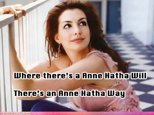 actor anne hathaway celeb funny pun - 5883225344