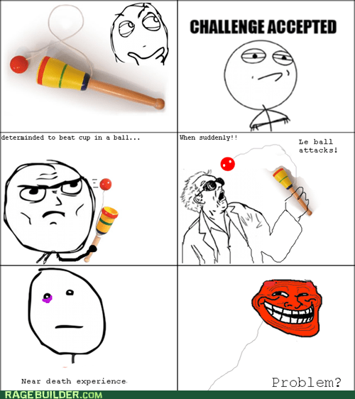 ball,Challenge Accepted,Rage Comics,troll
