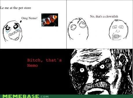 all that racket,clownfish,finding nemo,Rage Comics