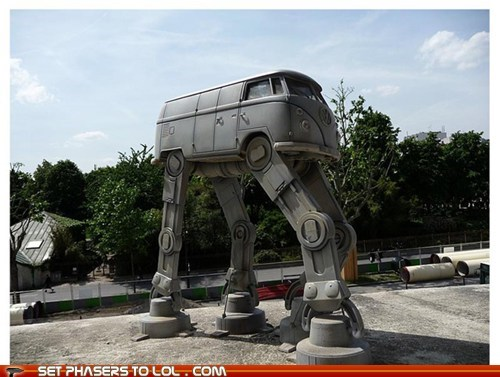 at-at walker,bus,Hoth,imperial,star wars,volkswagen,VW