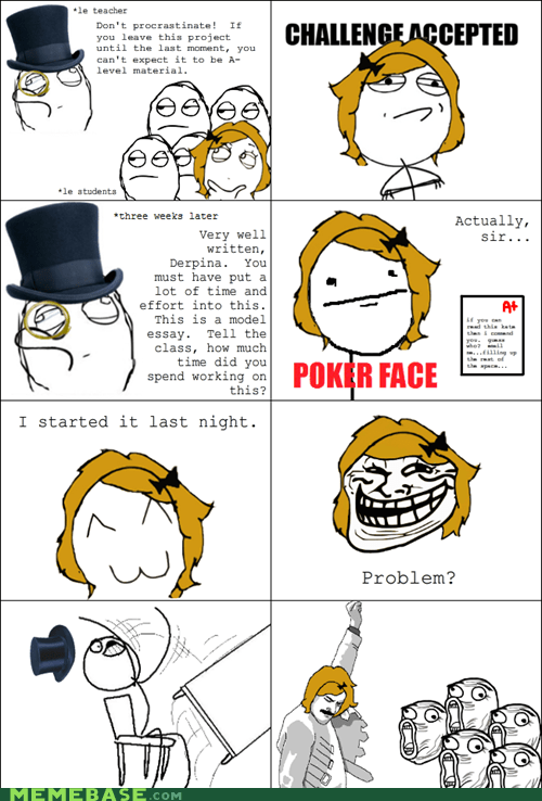Challenge Accepted Rage Comics table flip truancy story - 5883348992