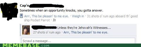 door facebook jehovahs witness knock