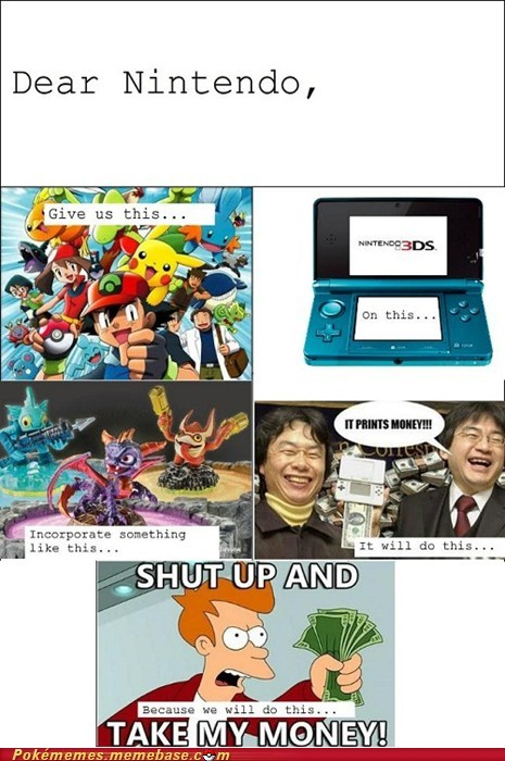 3DS,amazing,Game Freak,hear us out,nintendo,rage comic,Rage Comics,we want to spend money