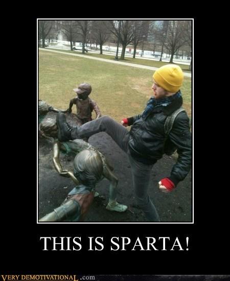 hilarious,kids,sparta,statue