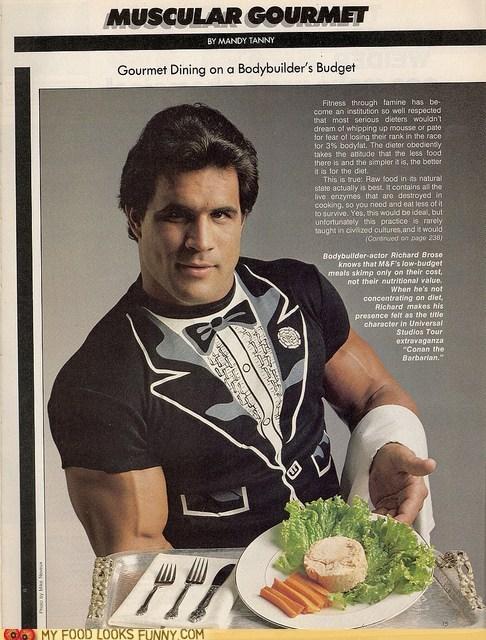 bodybuilder,gourmet,tuna,tuxedo t-shirt
