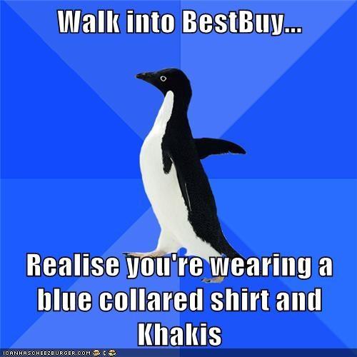 best buy khakis shirt socially awkward penguin - 5883839488