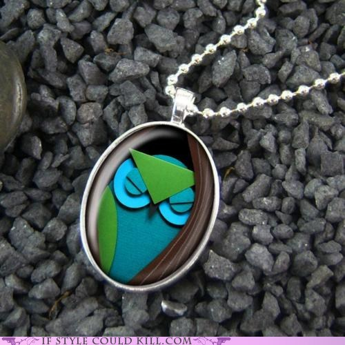 cool accessories,necklaces,owls