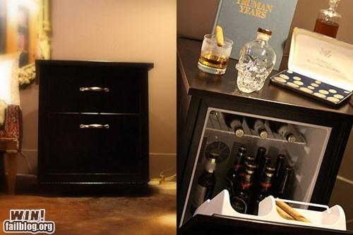 alcohol beer design fridge nightstand - 5883926016