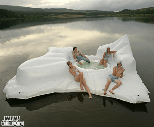 cool,design,floating,hot tub,lake