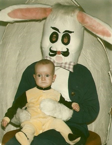 baby creepy do not want g rated retro sketchy bunnies surprised vintage - 5884232448