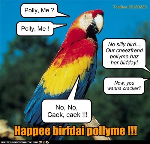 Happee birfdai pollyme !!!