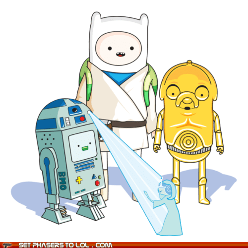 adventure time c3p0 finn and jake luke skywalker r2d2 star wars - 5884308736