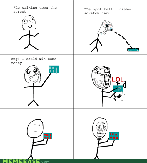 lol Okay Rage Comics scratch card - 5884313344
