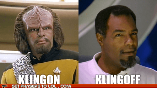 best of the week klingon Michael Dorn off pun Star Trek Worf - 5884325888