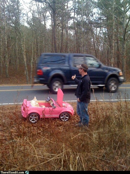 g rated hitchhiking there I fixed it toy car