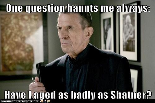 aged badly Fringe haunt Leonard Nimoy question shatner william bell - 5884468480