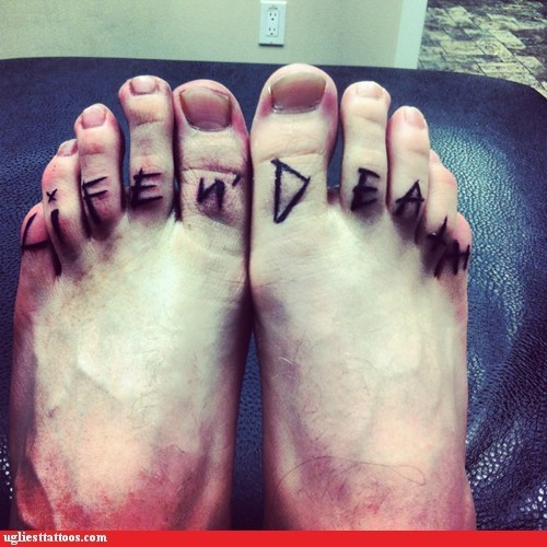 foot tattoos life and death life-n-death why - 5884690176