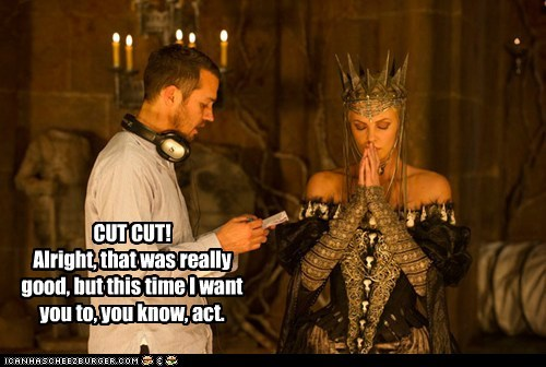 acting,charlize theron,cut,notes,queen,snow white and the huntsman
