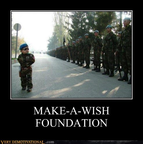 hilarious,kid,make a wish,soldier,wtf