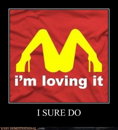 hilarious loving it McDonald's Sexy Ladies T.Shirt - 5886372352