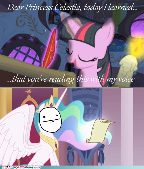 comics friendship letter princess celestia trolling