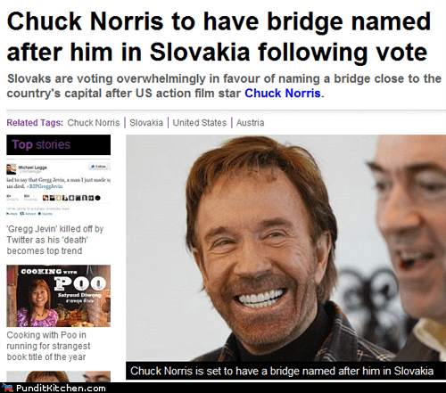 bridge chuck norris political pictures slovakia