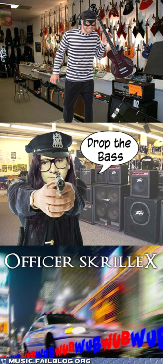 bass cop show drop drop the bass dubstep parody skrillex