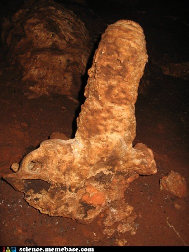 I have the weirdest stalagmite right now...