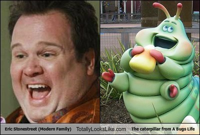Eric Stonestreet (Modern Family) Totally Looks Like The caterpillar from A Bugs Life