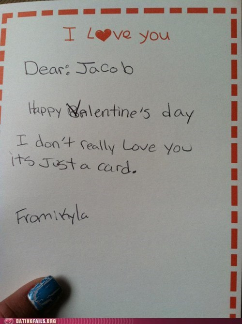 i love you just a card not really Valentines day - 5887582464