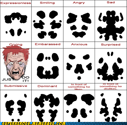 Awesome Art crying expressions face rorschach Sad superheroes - 5887604480