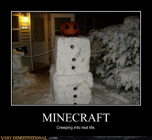 minecraft Pure Awesome snow man video games - 5887895808