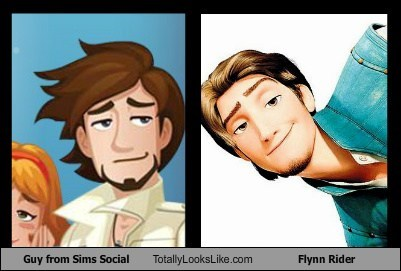 disney,Flynn Rider,funny,game,guy,Sims,TLL