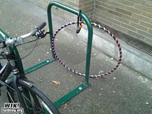 anti-theft bike rack hula hoop lock security - 5888085504